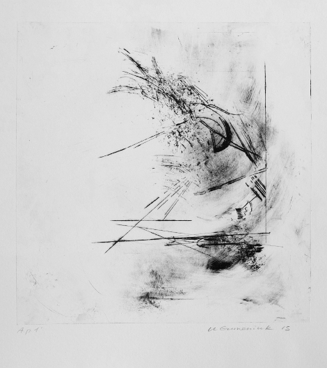Diagonal Number 2, Dry Point by Ulyana Gumeniuk