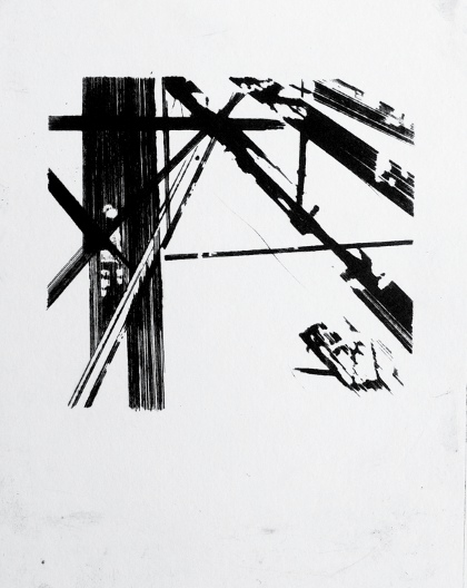 Industrial Forms 1, Dry Point by Ulyana Gumeniuk