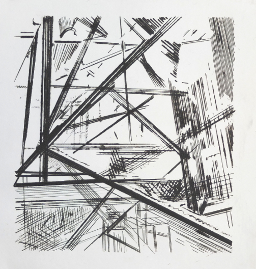 Industrial Forms 3 V1, Dry Point by Ulyana Gumeniuk
