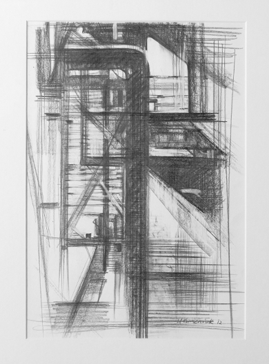 Pipe Forms, Pencil by Ulyana Gumeniuk