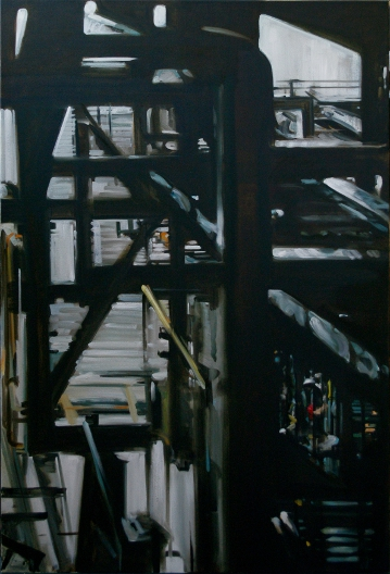 Pipes Number Four, Oil on Canvas by Ulyana Gumeniuk