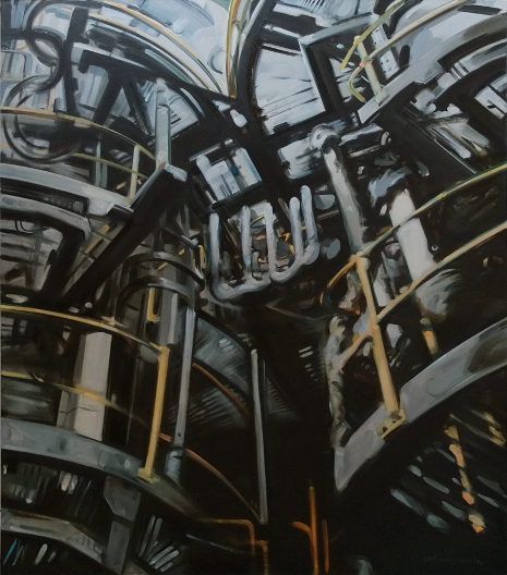 Pipes Number 7, Oil on Canvas by Ulyana Gumeniuk