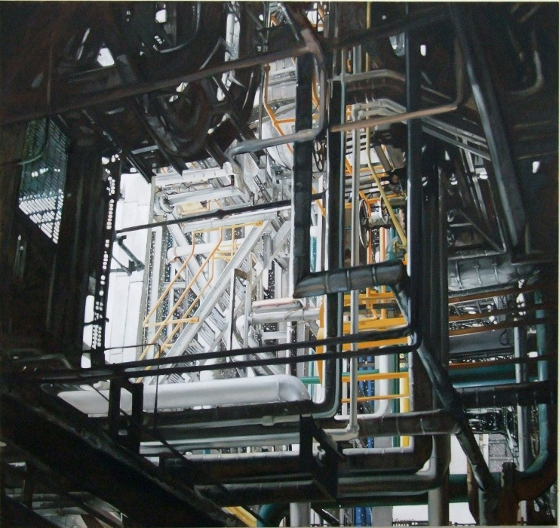 Pipes Number Two, Oil on Canvas by Ulyana Gumeniuk