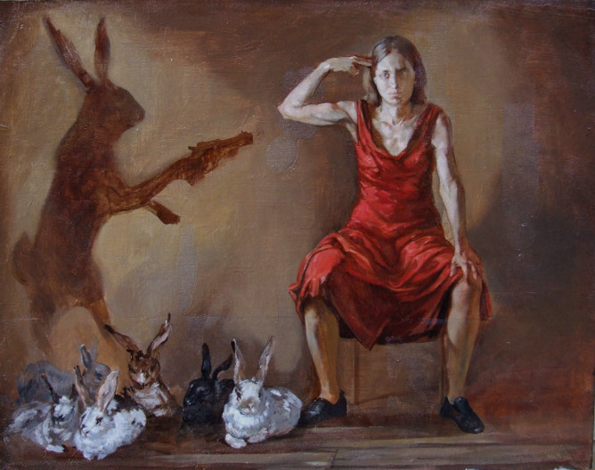 Malice In Wonderland, Oil on Canvas by Ulyana Gumeniuk