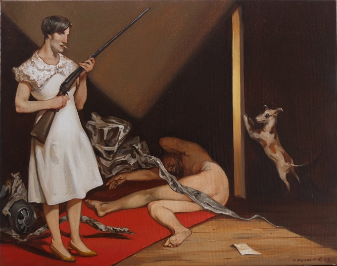 Samson and Delilah, Oil on Canvas by Ulyana Gumeniuk