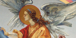 mural, angel on wall
